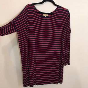 PIKO 1988 Red and Navy Stripe Fall Tunic S